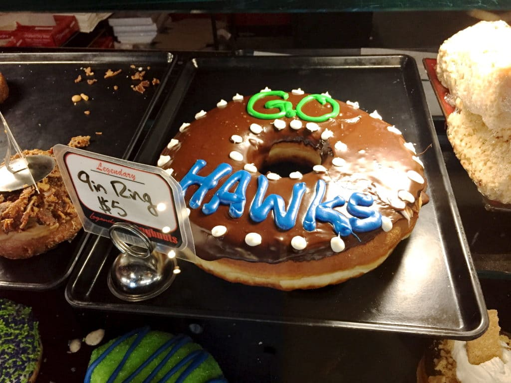 Go Hawks Doughnut